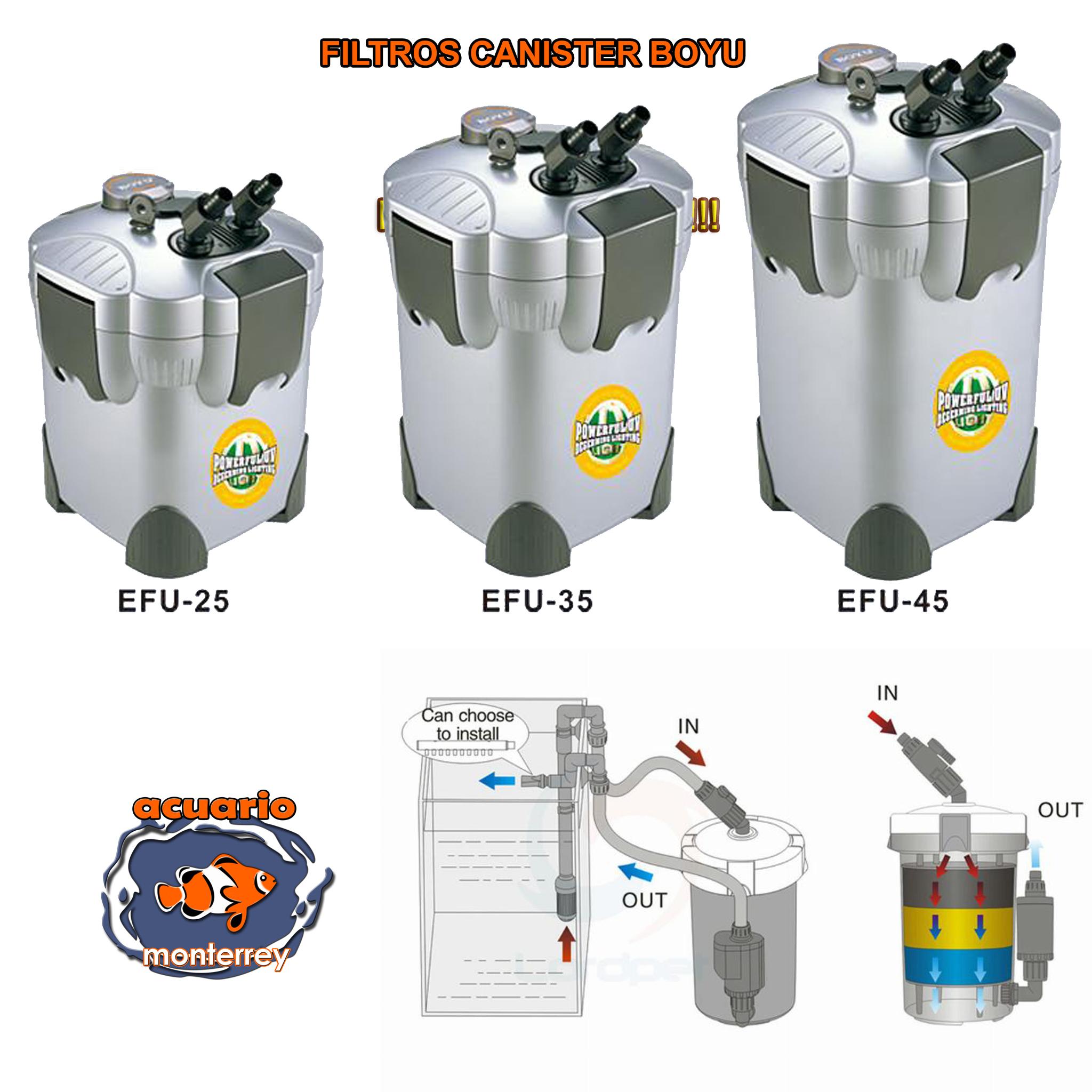 Filtro de canasta boyu modelo 1100 l h ef 45 acuario for Filtro acuario marino